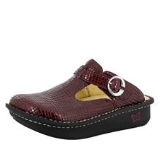 Alegria Classic Jazzy Wine womens open back clog