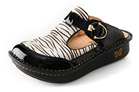 Alegria Classic Zebra in Black Patent with Zebra on sale