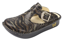 Alegria Classic Safari pattern open back comfort clog for women