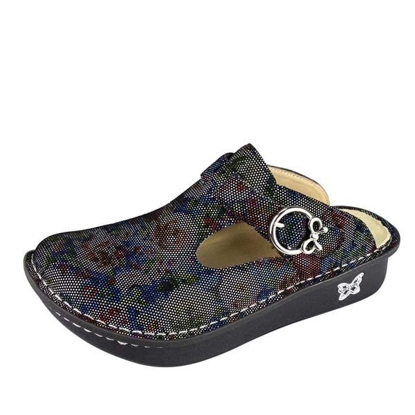 Alegria Classic Multi Dot Floral comfort clogs for women