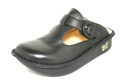 Alegria Classic Black Napa leather comfort clog for women