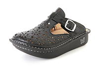 Alegria Classic Breezy Dusty Black open back clog for women