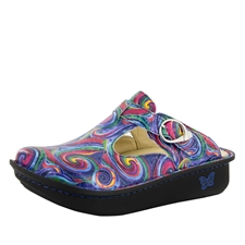 Alegria Classic Swirly Goodness womens open back clog
