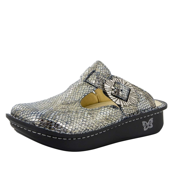 Alegria Classic Posh Pewter womens open back clog