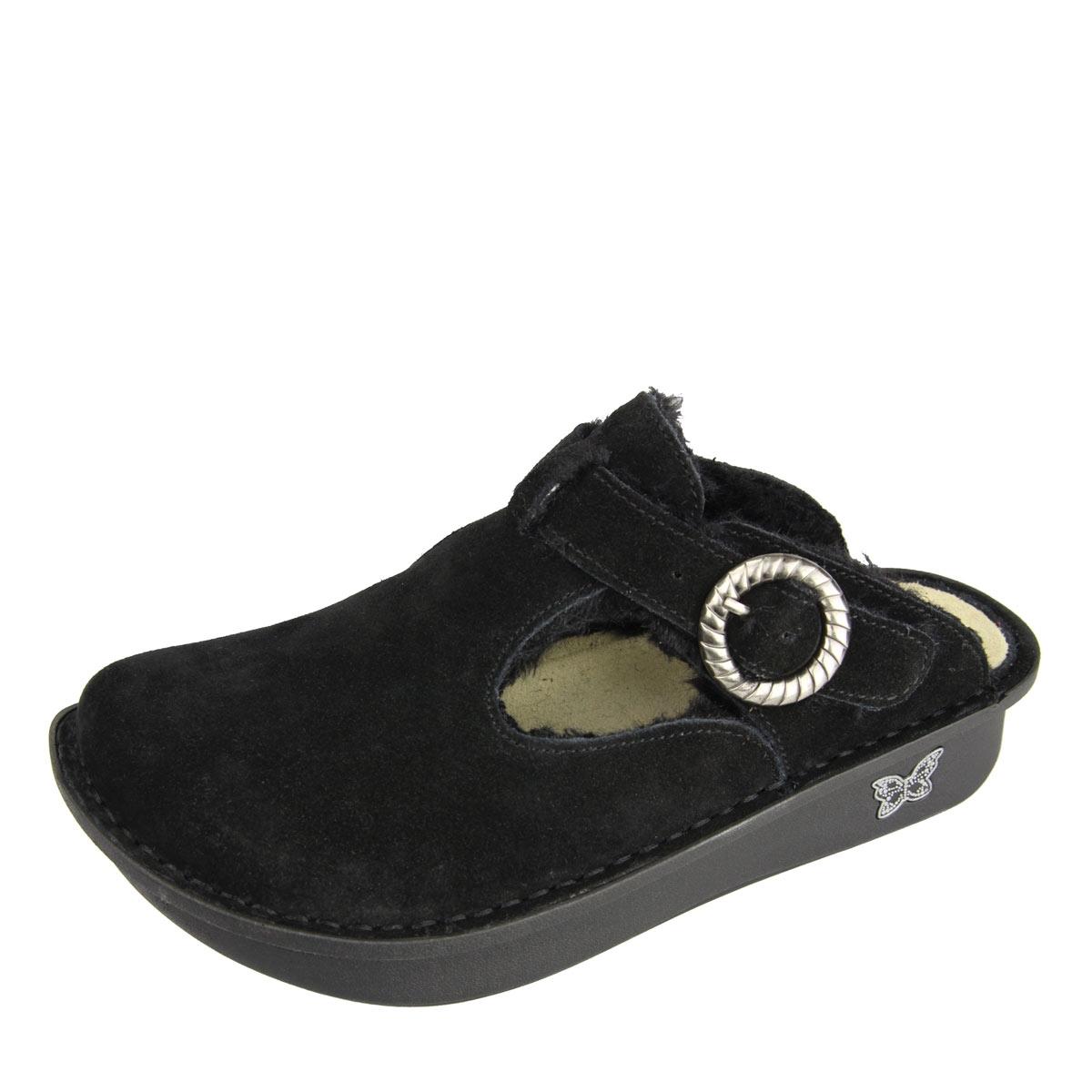 Alegria Shoes Classic Black Shearling Boots Alegria