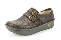 Alegria Alli Choco Embossed Paisley comfortable loafer for women