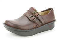 Alegria Alli Sunned slip resistant brown leather loafer for women