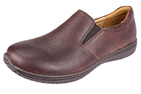 Alegria Men's Aaron Choco Wax Tumbled leather loafer