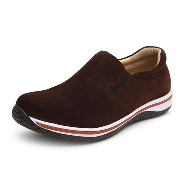 Alegria Mens Aaron Cafe Suede comfort athletic loafer on sale