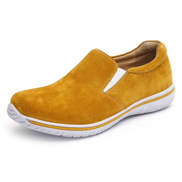 Alegria Mens Aaron Yellow Suede leather athletic loafer on sale