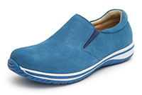 Alegria Men's Aaron Blue Suede
