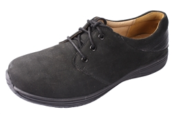 Alegria Men's Alex Black Nubuck leather oxford