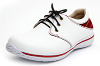 Alegria Mens Alex White Red athletic comfort shoe on sale