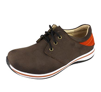 Alegria Mens Alex Cafe/Orange comfort athletic shoe on sale