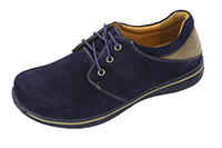 Alegria Men's Alex Navy Suede with Sand leather oxford