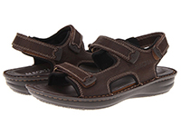 Alegria Mens Angler Choco Brown leather casual comfort sandal
