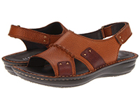 Alegria Mens Antigua Cognac leather slip resistant casual sandal