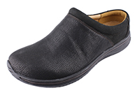 Alegria Mens Art Black slip resistant leather comfort clog shoe
