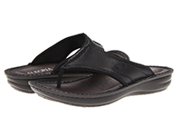 Alegria Mens Aruba Black Tumble comfortable thong sandal on sale