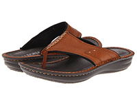 Alegria Mens Aruba Cognac comfort leather thong sandal on sale