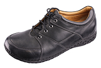 Alegria Mens Bartlett Black Waxy Leather casual comfort shoe