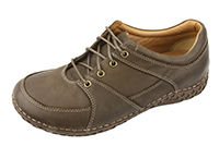 Alegria Mens Bartlett Dark Brown Leather casual comfort shoe