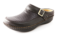 Alegria Mens Chairman Choco Woven professional leather comfort clogs
