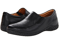 Alegria Mens Foxe Black Tumble leather upper casual comfort loafer