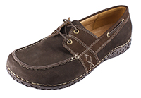 Alegria Mens Franklin Choco Brown Leather laced comfort boat shoe