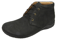Alegria Men's Jake Black Nubuck upper casual comfort ankle boot