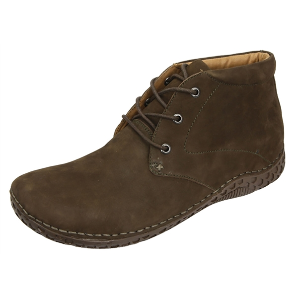 Alegria Men's Jake Choco Nubuck upper casual comfort ankle boot