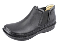 Alegria Mens Lewiston Black Tumbled leather comfort ankle boot