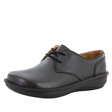 Alegria Men's Liam Black Nappa slip resistant lace up oxford