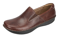Alegria Men's Oz Choco Wax Tumbled Leather slip resistant comfort loafer