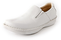 Alegria Mens Oz White Tumbled Leather professional comfort  medical shoe