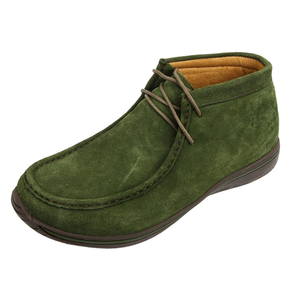 Alegria Men's Packard Olive Suede leather moccasin ankle boot