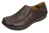 Alegria Men's Schuster ChocoLeather slip resistant comfort loafer