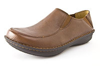 Alegria Mens Schuster Cognac leather comfort casual shoe clog