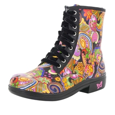 Alegria Ari Laugh In paisley print boot
