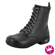 Alegria Ari Black leather water-resistant boot