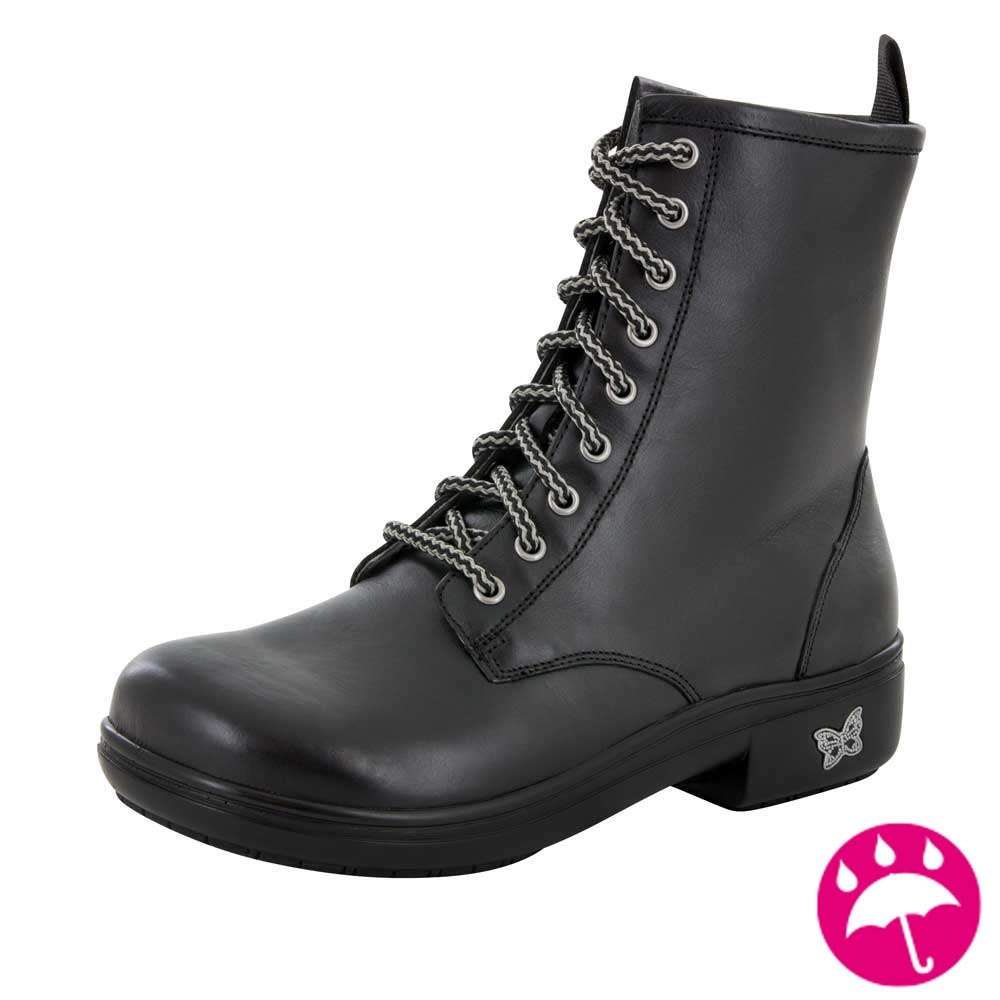 Alegria Ari Black Water Resistant Boots Free Shipping