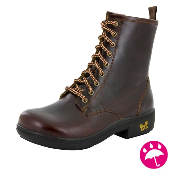 Alegria Ari Hickory leather waterproof boot