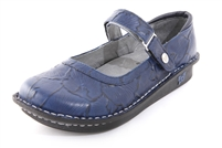 Alegria Belle Navy Sand Dollar womens mary jane shoe