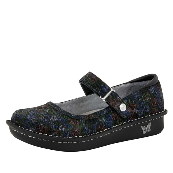 Alegria Belle Raked Garden leather womens mary jane comfort shoe
