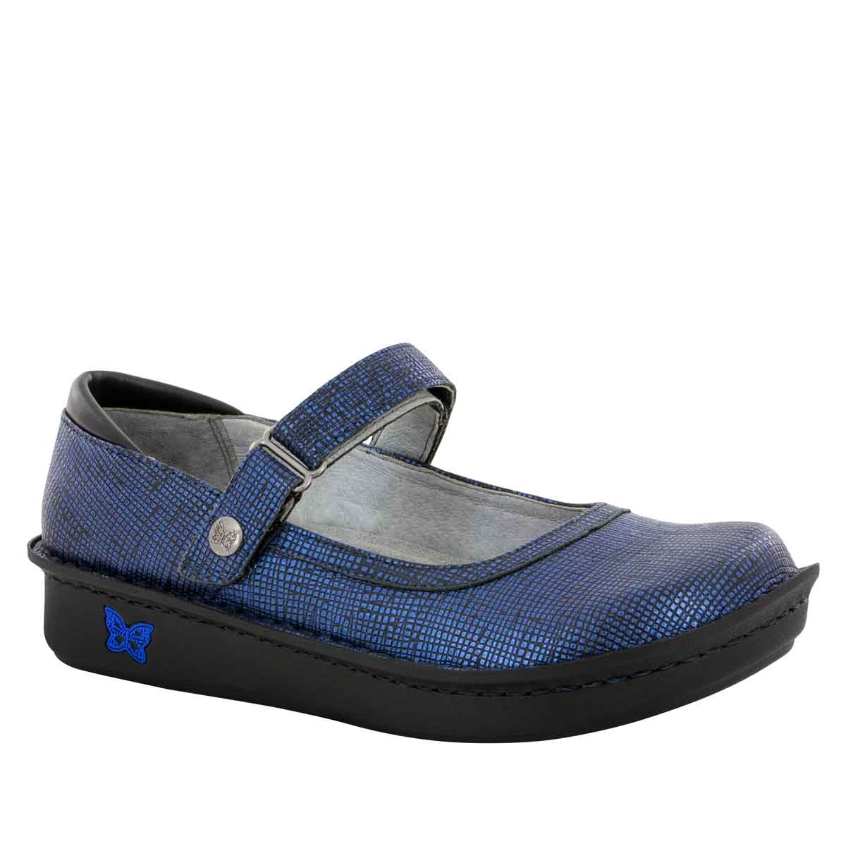 Alegria Belle Grid Blue The Alegria Shoe Experts