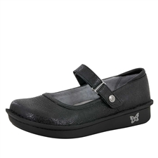 Alegria Belle Black Swirl leather womens mary jane comfort shoe