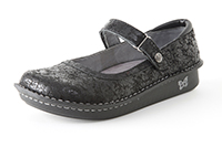 Alegria Belle Desert Black womens low profile mary jane shoe
