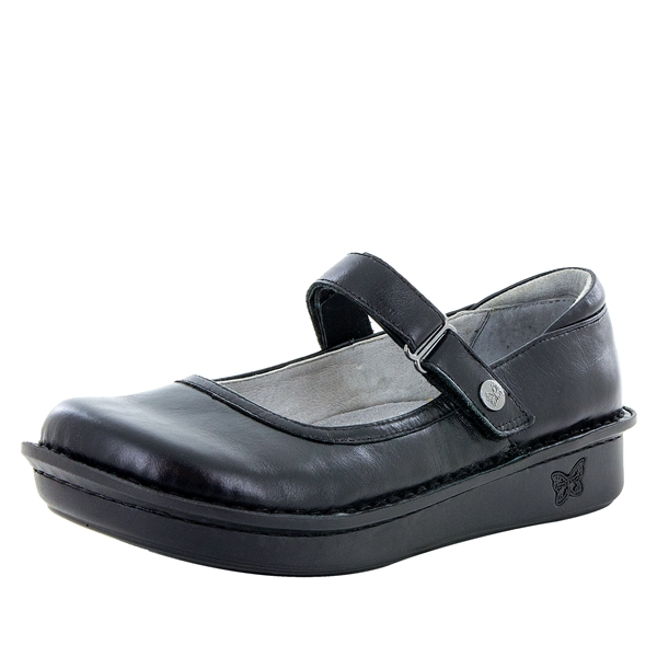 Alegria Belle Jet Luster leather womens mary jane comfort shoe