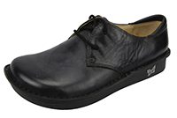 Alegria Bree Black Burnish womens oxford shoes with laces