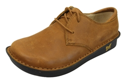 Alegria Bree Cognac Nubuck womens oxford comfort shoe with laces